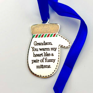 Grandson, You Warm My Heart - Ornament
