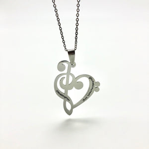 Necklace Granddaughter, You Make My Heart Sing - Necklace - Memorable Treasures