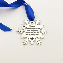 Load image into Gallery viewer, Housewares Grandson, Like a Snowflake, You're a Unique and Beautiful Miracle - Ornament - Memorable Treasures