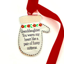 Load image into Gallery viewer, Granddaughter, You Warm My Heart - Ornament