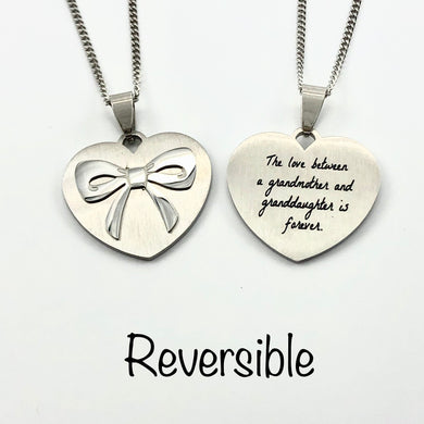 The Love Between a Grandmother and Granddaughter is Forever - Necklace