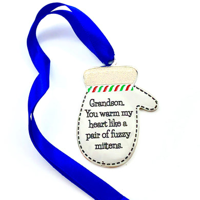Housewares Grandson, You Warm My Heart - Ornament - Memorable Treasures