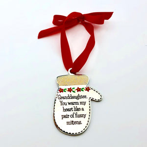 Granddaughter, You Warm My Heart - Ornament