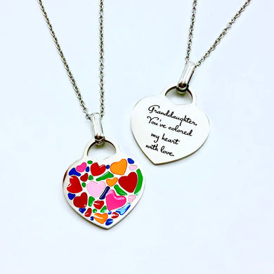 Granddaughter, You've Colored My Heart With Love - Necklace - Memorable Treasures Gift of Love for Family and Friends