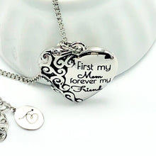 Load image into Gallery viewer, Necklace First My Mom, Forever My Friend - Heart Mother's Necklace - Memorable Treasures