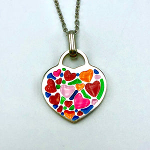 Necklace Granddaughter, You've Colored My Heart With Love - Necklace - Memorable Treasures