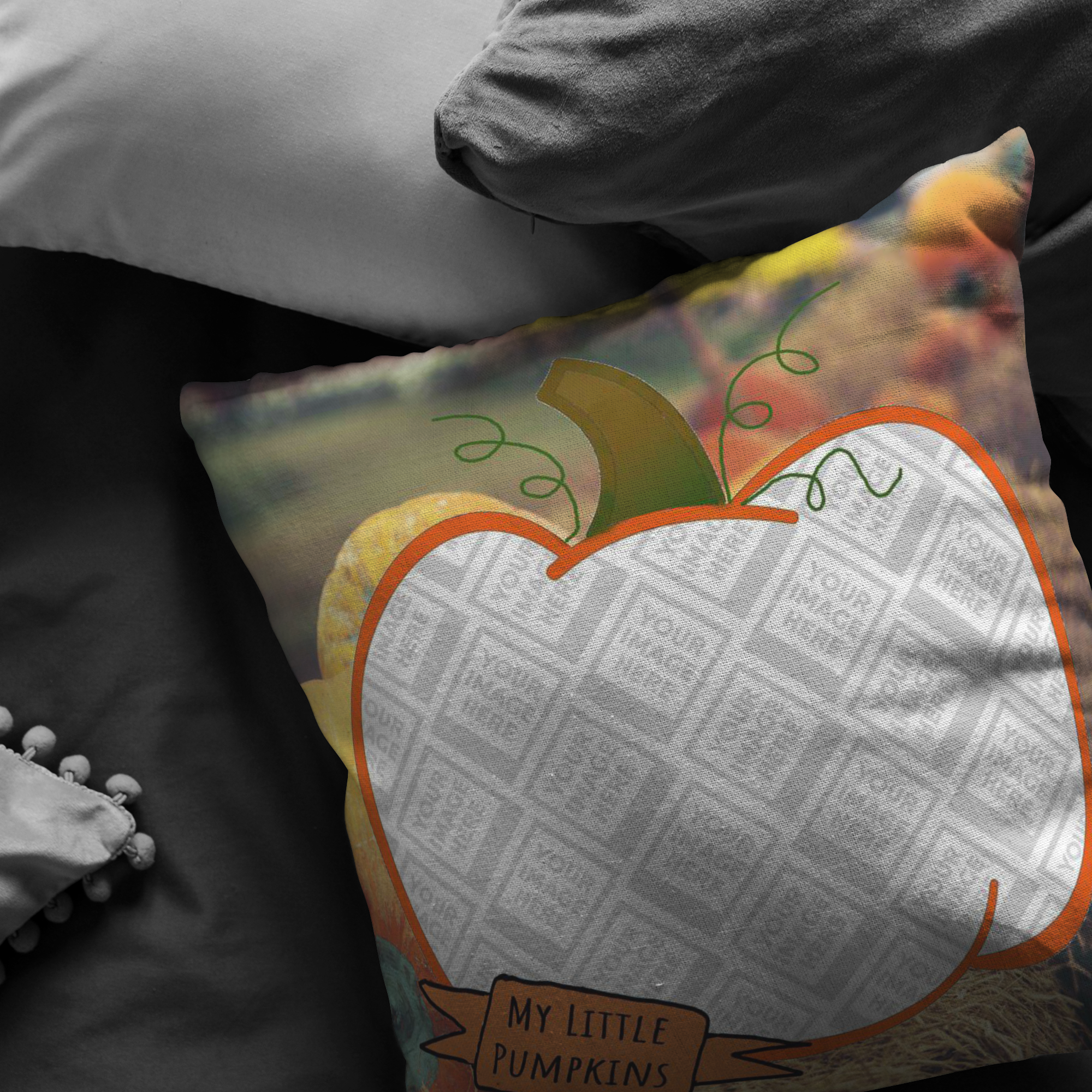 Pillows Multi Template My Little Pumpkins Picture This™ Personalized Pillow 2 - Memorable Treasures