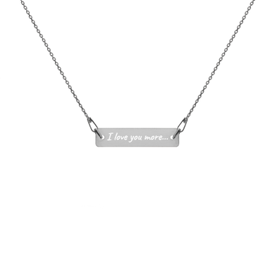 In Your Own Words™ Personalized Engraved Silver Bar - Chain Necklace - Memorable Treasures Gift of Love for Family and Friends