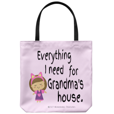 Weekend With Grandma Tote - Memorable Treasures Gift of Love for Family and Friends