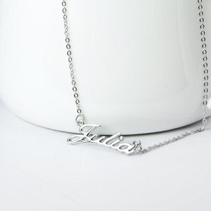 "In Your Own Words Personalized ""In Your Own Words...™"" Sterling Silver Custom Name Necklace - Memorable Treasures"
