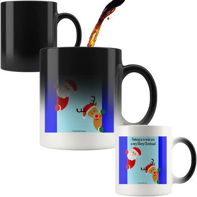 Drinkware Peek-a-Boo Santa Magic Color-Changing Mug - Memorable Treasures