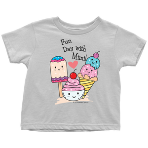 Fun Day With Mimi! - Tee-Shirt For Toddlers - Memorable Treasures Gift of Love for Family and Friends