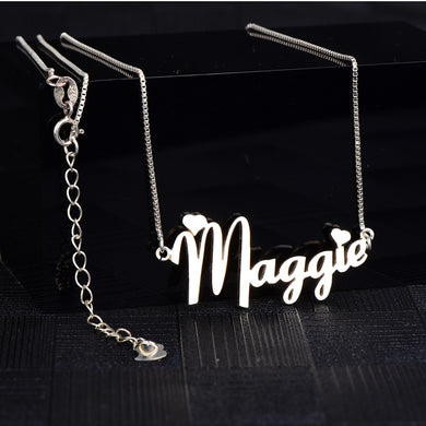 In Your Own Words™ Stainless Steel Custom Name Necklace - Memorable Treasures