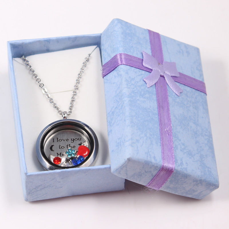I Love You to the Moon and Back - Glass Locket - Memorable Treasures