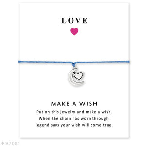 I Love You to the Moon and Back Star Charm Card Bracelets Jewelry - Memorable Treasures