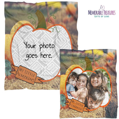 Blanket Template My Little Pumpkin Picture This™ Personalized Plush Blanket - Memorable Treasures