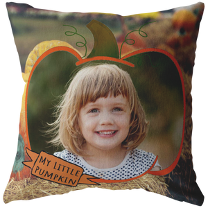 My Little Pumpkin Picture This™ Personalize Pillow