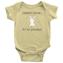 Load image into Gallery viewer, T-shirt Somebunny Loves Me... Grandma - Baby One Piece Teeshirt - Memorable Treasures