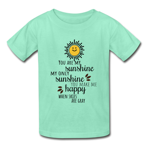 Hanes Youth Tagless T-Shirt | Hanes 5450 You Are My Sunshine - Hanes Youth Tagless T-Shirt - Memorable Treasures