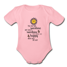 Load image into Gallery viewer, Organic Short Sleeve Baby Bodysuit | Spreadshirt 401 You Are My Sunshine... - Organic Short Sleeve Baby Bodysuit - Memorable Treasures