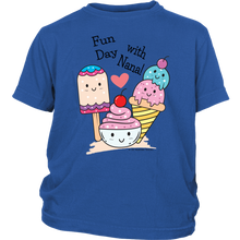 Load image into Gallery viewer, T-shirt Fun Day With Nana! - Tee-Shirt For Youth - Memorable Treasures
