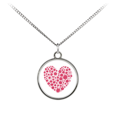 Flowers and Hearts - Necklace - Memorable Treasures Gift of Love for Family and Friends