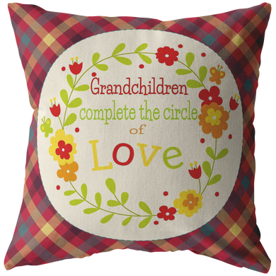 Pillows Multi Grandchildren Complete the Circle of Love -Pillow - Memorable Treasures