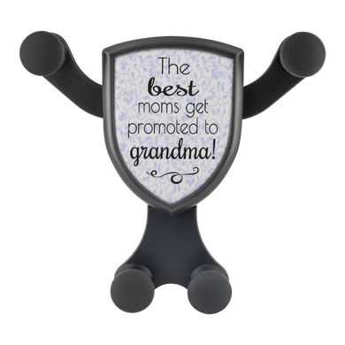 The Best Moms Get Promoted to Grandma - Cell Phone Car Mount and Wireless Charger - Memorable Treasures Gift of Love for Family and Friends