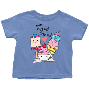 Fun Day With Grandma! - Tee-Shirt For Toddlers - Memorable Treasures Gift of Love for Family and Friends