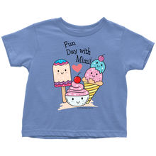 Load image into Gallery viewer, T-shirt Fun Day With Mimi! - Tee-Shirt For Toddlers - Memorable Treasures