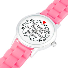 Load image into Gallery viewer, Be Happy, Be True, Be Special, Be You - Child's Watch - Memorable Treasures