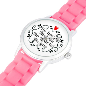 Be Happy, Be True, Be Special, Be You - Child's Watch - Memorable Treasures