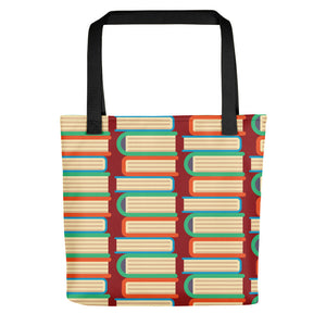 Book Pattern Tote Bag for Teacher or Librarian Gift