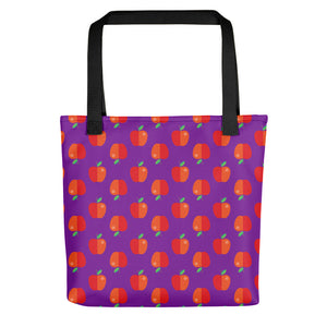 Apple Pattern Tote Bag Teacher Gift