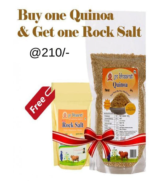 Natural Quinoa and Pink Rock Salt Combo