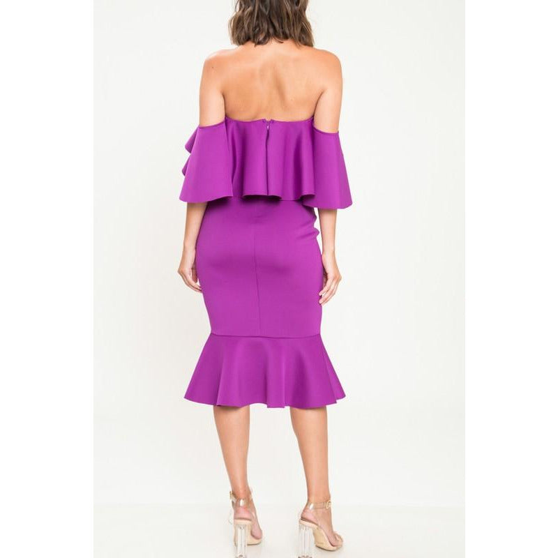 Purple Peplum - ZURRI Boutique
