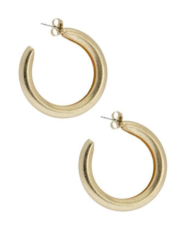 Hollow Hoop Earrings