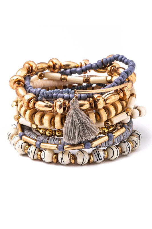 Boho-Chic Stacked Bracelets