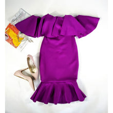 Load image into Gallery viewer, Purple Peplum