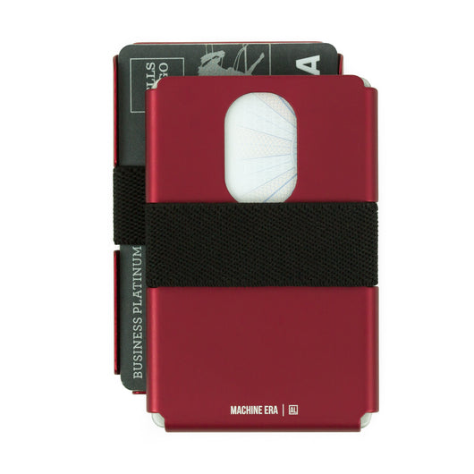 AL7 Slim Wallet | Deep Red