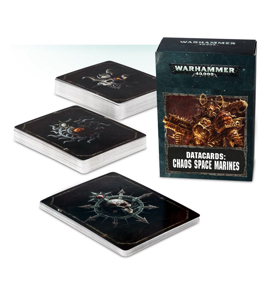Games Workshop Datacards Chaos Space Marines