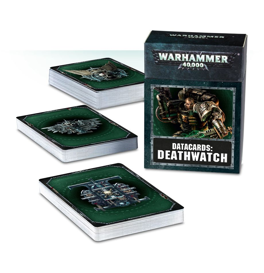 Games Workshop Deathwatch Data Cards