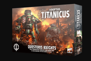 Games Workshop Adeptus Titanicus: Questoris Knights with Thunderstrike Gauntlets and Rocket Pods