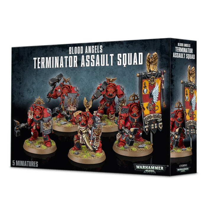 Games Workshop Blood Angels Terminator Assault Squad