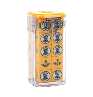 Games Workshop Imperial Fists Dice Set - Space Marines (1 per person)