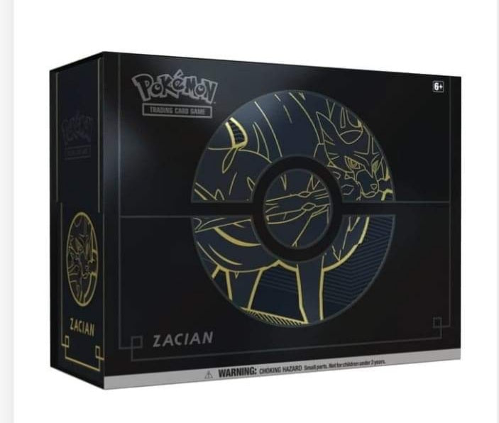 Pokemon TCG: Sword & Shield Elite Trainer Box Plus. Zancian box