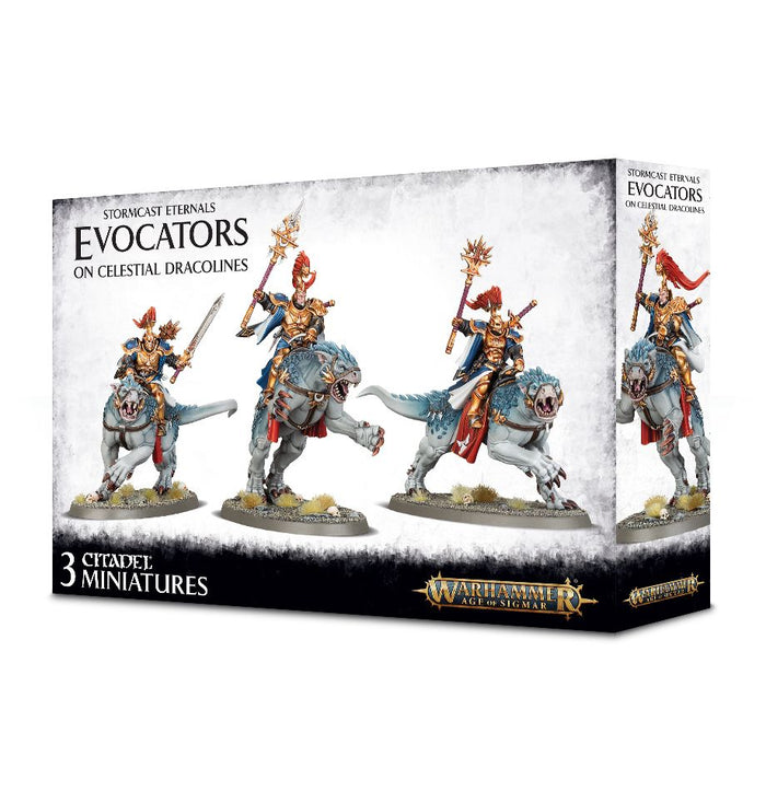 Games Workshop Stormcast Eternals Evocators On Celestial Dracoline