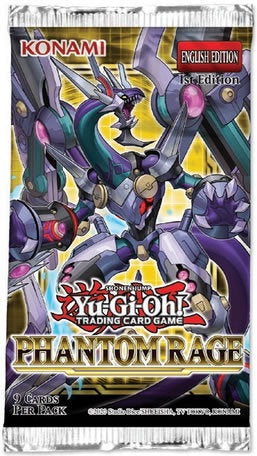 Yu-Gi-Oh! Sealed Booster Pack (9 Cards) - Phantom Rage (1st Edition)