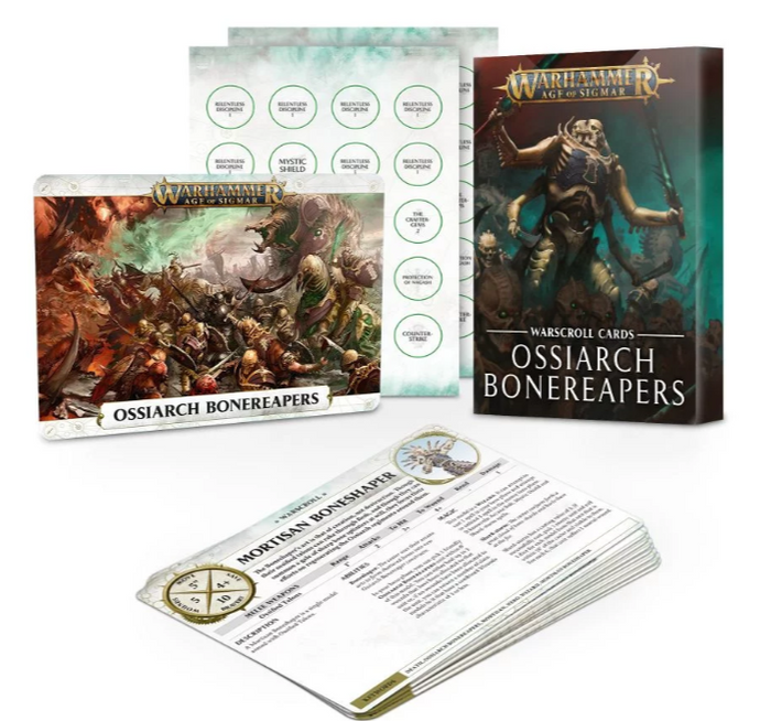 Games Workshop Warscroll Cards: Ossiarch Bonereapers