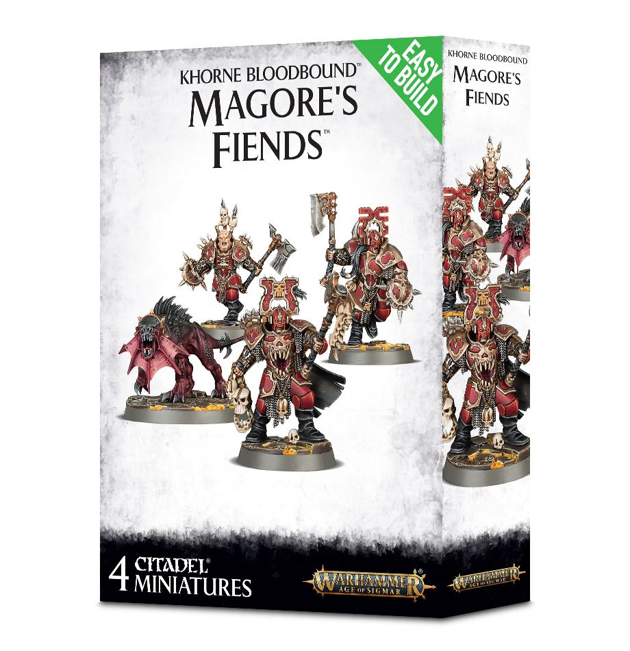 Games Workshop Easy To Build Khorne Bloodbound Magore'S Fiends